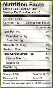 Organic Flaxseed Oatmeal Cookies